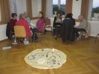 Die Teilnehmer beim Gespraech/Austausch